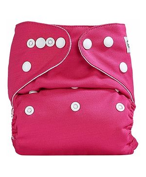 Bumberry Pocket Cloth Diaper With Insert - Dark Pink