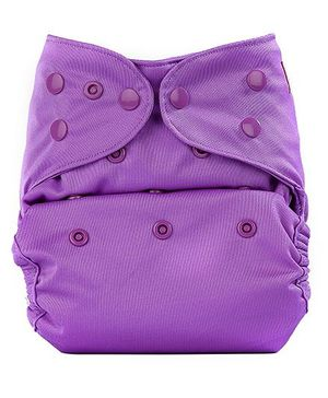 Bumberry Cloth Diaper Cover With One Bamboo Insert - Purple