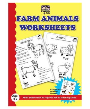 Creativity 4 Tots Farm Animals Worksheets - 24 Pages