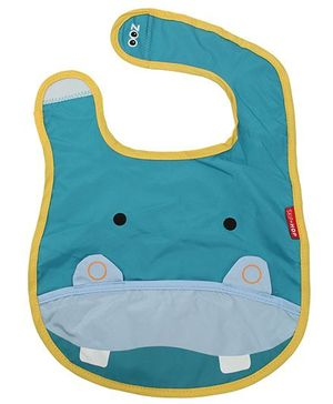 Fab N Funky Baby Bibs - Hippo Face Design