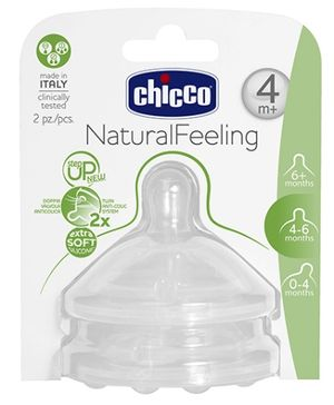 Chicco Natural Feeling Step Up Teat Adjustable Flow - 2 Pieces