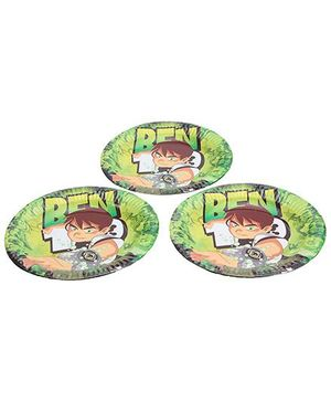Ben 10 Paper Plates Set Of 10 - 9 Inches