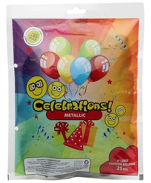 Celebrations! Rubber Play Balloon - 25 Pieces (Color May Vary)