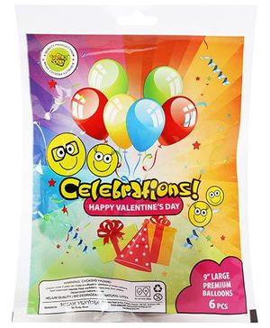 Celebrations! Rubber Play Balloons - 6 Balloons