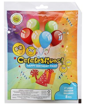 Celebrations! Rubber Play Balloons Large - 8 Balloons