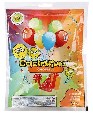 Celebrations! Round Rubber Play Balloon Medium - 25 Pieces