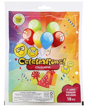 Celeberations! Rubber Play Balloons Large - 10 Balloons