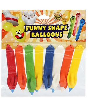 Celeberations! Rubber Play Balloons Funny Shape Balloons Small - 8 Balloons