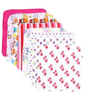 BabyHug Mutlicolor Baby Napkin - Set Of 8