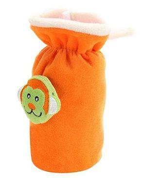 Babyhug Plush Bottle Cover Monkey Motif Large - Orange
