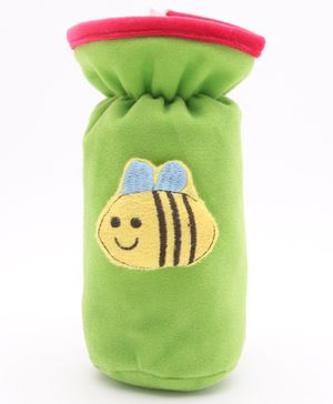 Babyhug Plush Bottle Cover Honeybee Motif Large - Green