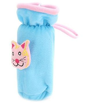 Babyhug Plush Bottle Cover Kitty Motif Large - Blue
