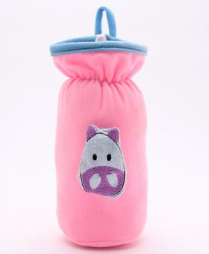 Babyhug Plush Bottle Cover Cute Bug Motif Large - Pink