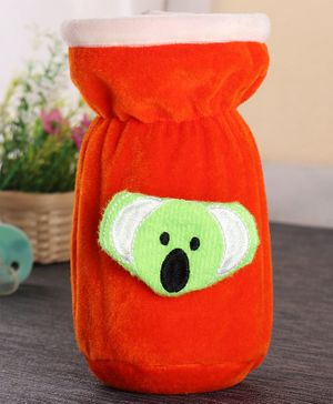 Babyhug Plush Bottle Cover Koala Motif Medium - Orange