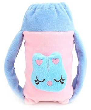 Babyhug Plush Twin Handle Bottle Cover Medium - Cute Bug Motif