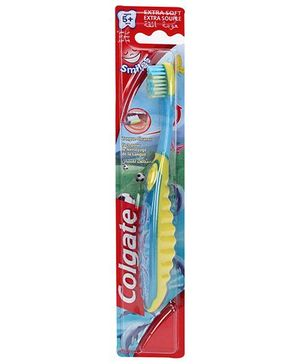Colgate Smiles Extra Soft Tooth Brush - Blue And Yellow