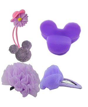 Angel Glitter Hair Accessories Combo of 4 - Purple