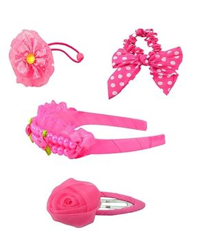 Angel Glitter Hair Accessories Combo of 5 - Cutie Pink