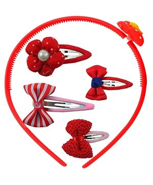 Angel Glitter Hair Accessories Combo of 5 - Red Queen
