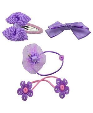 Angel Glitter Hair Accessories Combo of 4 - Purple Jasmine