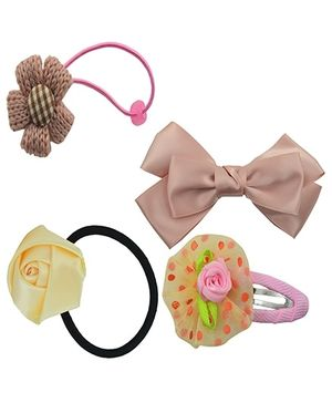 Angel Glitter Hair Accessories Combo of 4 -  Brownie Fashion