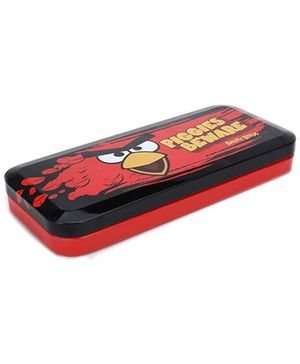 Angry Birds Piggies Beware Pencil Box - Red And Black