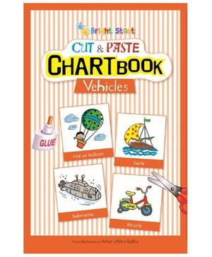 Brightstart Cut And Paste Chart Book - Vehicles