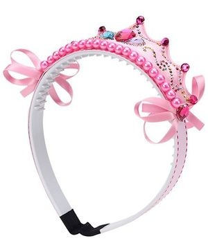 Kids Studioz Hair Band With Lace - Pink