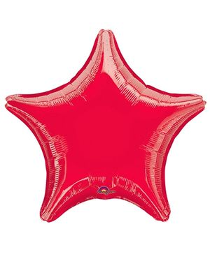 Wanna Party Star Balloon - Red