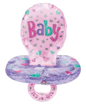 Wanna Party Baby Pacifier Multi-Balloon - Pink And Purple