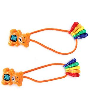 Kids Studioz Hair Band Bear Pattern Orange - 1 Pair