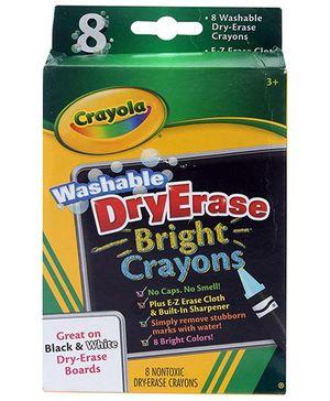 Crayola Washable Dry Erase Bright Crayons - 8 Crayons