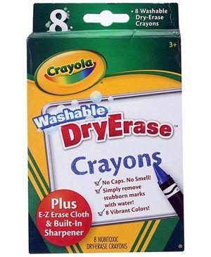 Crayola Washable Dry Erase Crayons - 8 Crayons