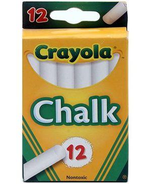 Crayola Chalks White - 12 Chalks