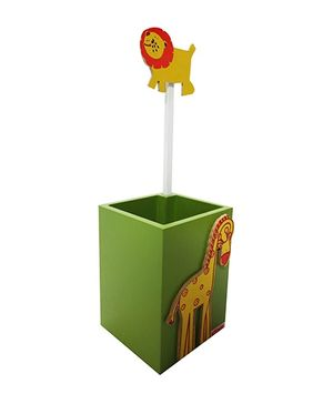 Kidoz Animal Pencil Stand Box - Green And Yellow