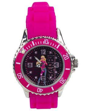 Barbie Rocks Analog Watch Pink - Length 21.5 cm