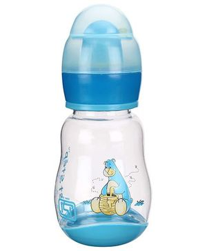 1st Step Feeding Bottle With Rattle Hood Blue - 125 ml