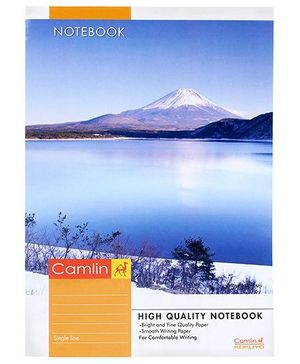 Camlin Single Line Notebook Blue - 140 pages