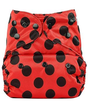 Bumberry Pocket Cloth Diaper With One Microfiber Insert - Ladybug