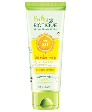 Biotique Bio Aloe Vera Sun Block Sunscreen SPF 20 - 50 gm
