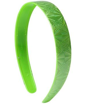 Fab N Funky Hair Band Green - Net Pattern