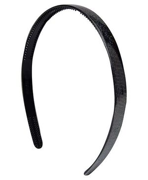 Fab N Funky Hair Band Black - Net Pattern