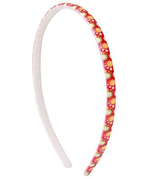 Fab N Funky Hair Band Red - Polka Dots