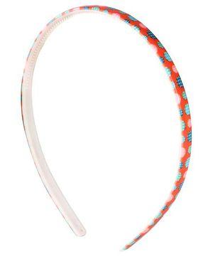 Fab N Funky Hair Band Orange - Polka Dots