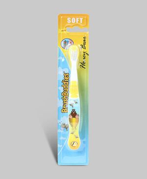Honey Bear Standard Toothbrush - Yellow