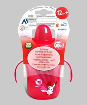 Red Avent Spout Cup Deco 260 ml