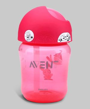 Pink Avent Straw Cup 260 ml