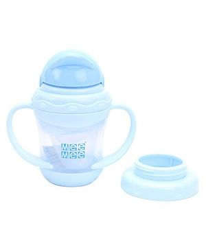 Mee Mee Sipper Cup Silicone 2 in 1 Blue - Capacity 180ml