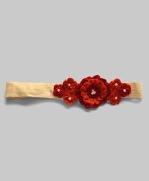 Crochet Flowers Adjustable Hairband