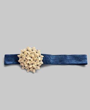 Felt Flower Adjustable Hairband - Blue